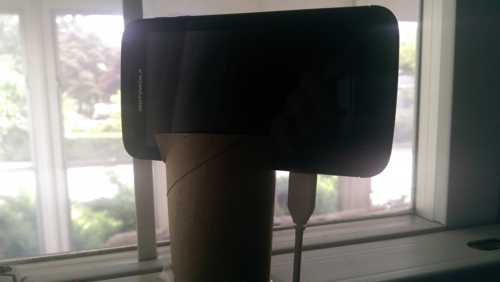 Front door camera mounted in location