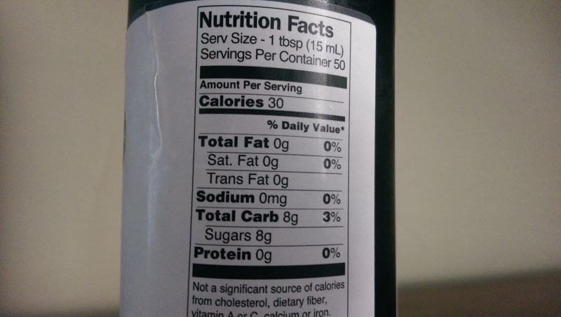 8 grams of sugar per tablespoon.